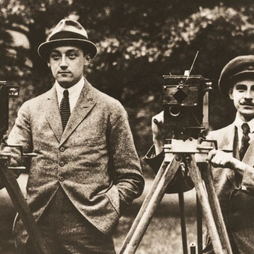 The two Arri founders Robert Richter and August Arnold at the beginning of the 20th century