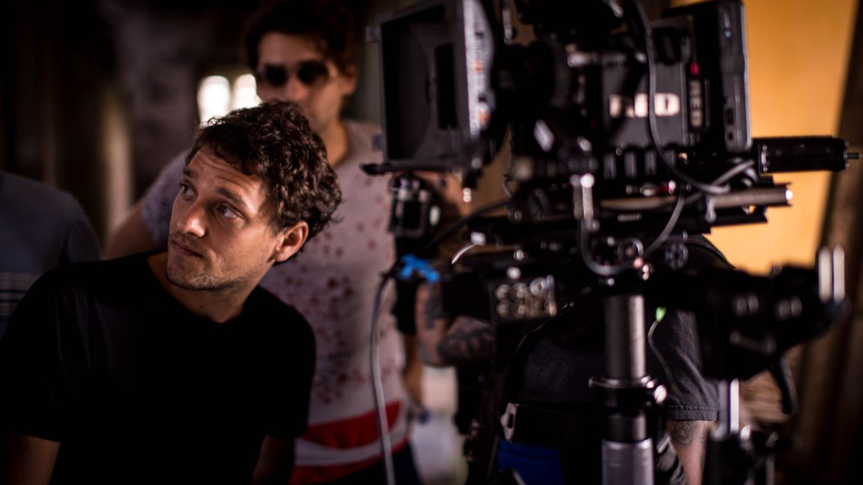"Federico Heller during the shooting of ""Uncanny Valley"""