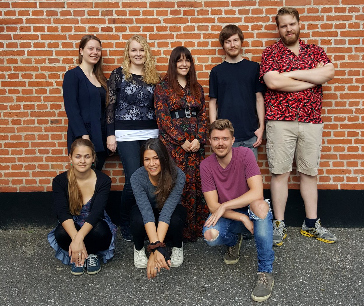 """Less than Human"" team: Julie Rebecca Billeskov Astrup (Animator and Assistant Production Manager), Matilde Soeltoft (Animation Lead and Animator), Anna Eckhoff Ohrt Nissen (CG Generalist, Production Manager, Rigger), Lasse Steinbeck (Technical Director, Pipeline TD, Rigger), Morten Vestbjerg Boegelund Lassen (CG Generalist, Modeler, Concept Sculptor), Ida Marie Soendergaard (Animator, Storyboard Artist), Ditte Marie Ludvigsen (Art Director, Texturing and Lighting Artist), Steffen Bang Lindholm (Director, Editor, Animator)"