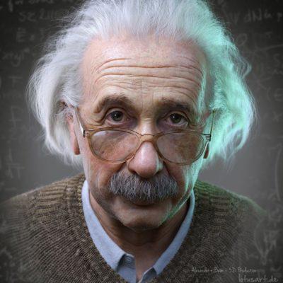 """""""Albert Einstein"""" (Alexander Beim, LotusArt, Germany)"""