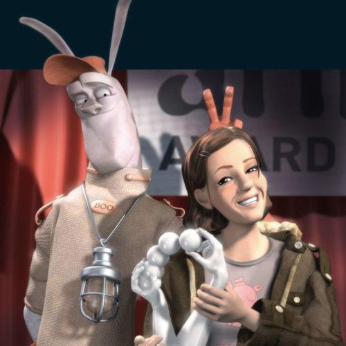 """""""Annie & Boo"""" mit der animago trophy (2004. Johannes Weiland)"""