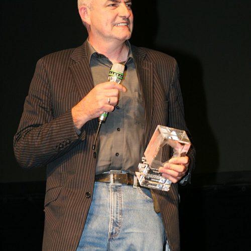 Thomas Zauner von Scanline nahm stellvertretend für Bully 2007 den animago-Ehrenpreis entgegen