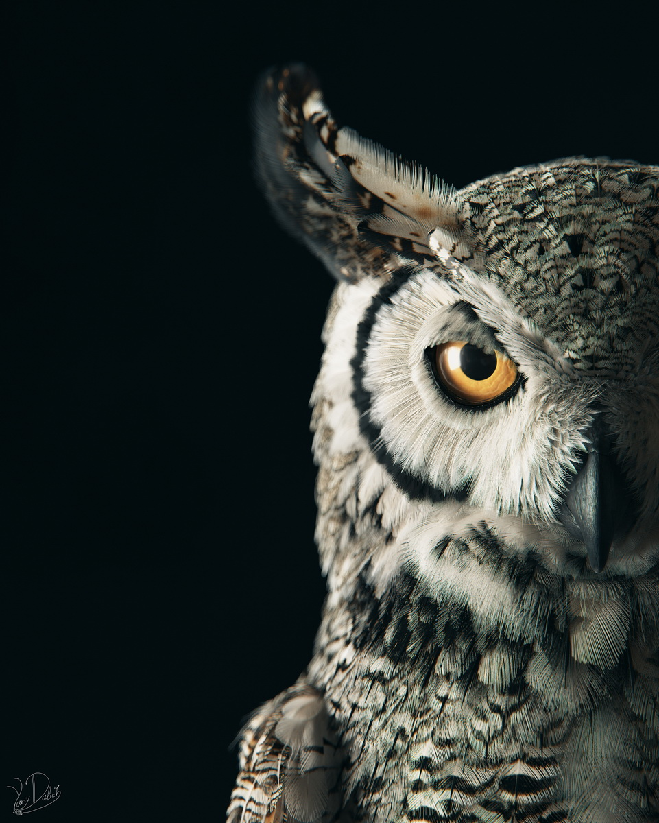 """Subarctic Great Horned Owl: look into the depths"" - Yuriy Dulich"