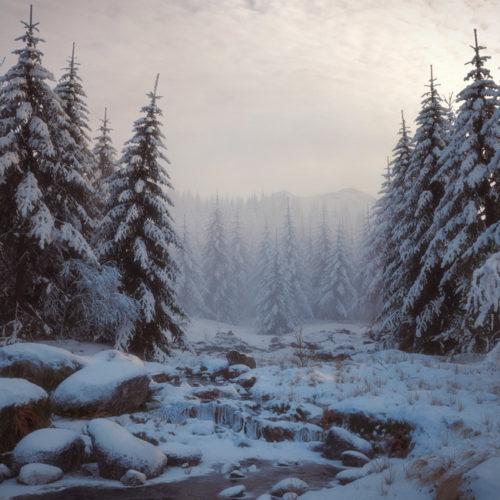 """""""Snowy Forest. Morning."""" - Dmitry Kremiansky"""